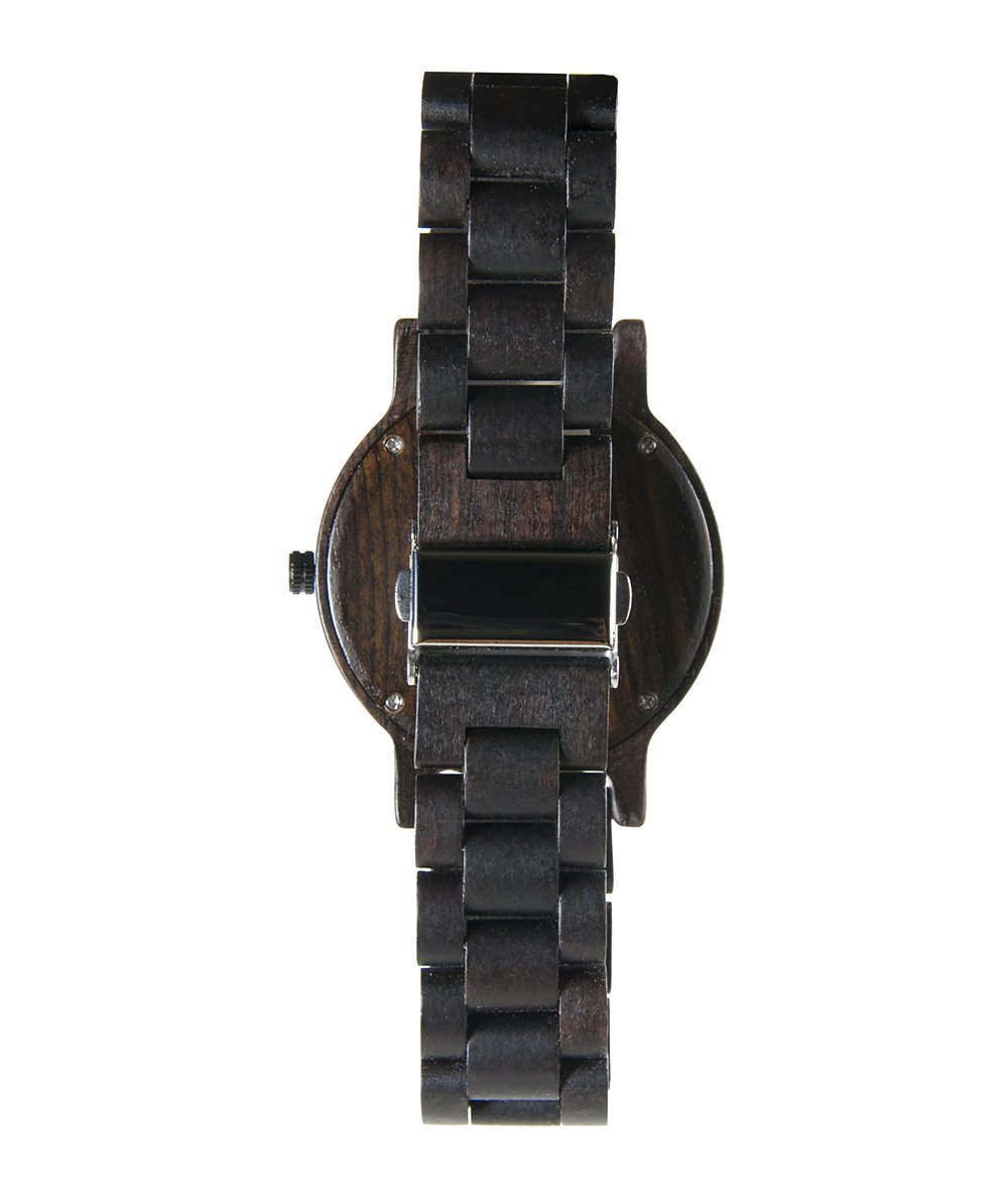 Anaheim Ducks Walnut Wooden Watch | Mens Black Watch