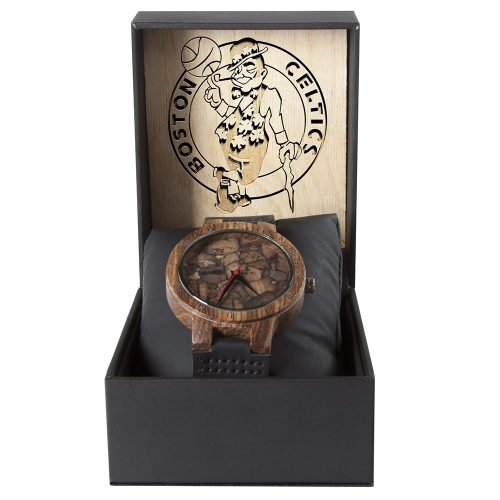 Boston Celtics Mahogany Marble Wooden Watch | Mens Minimalist Wood Watch