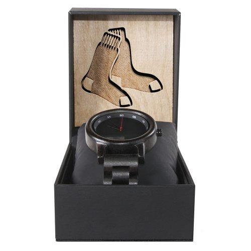 Boston Red Sox Walnut Wooden Watch | Mens Black Watch