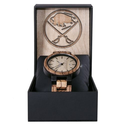 Buffalo Sabres Maple Wooden Watch | Wood Watch Gold Sonnet Series