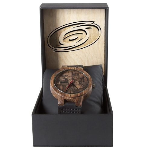 Carolina Hurricanes Mahogany Marble Wooden Watch | Mens Minimalist Wood Watch