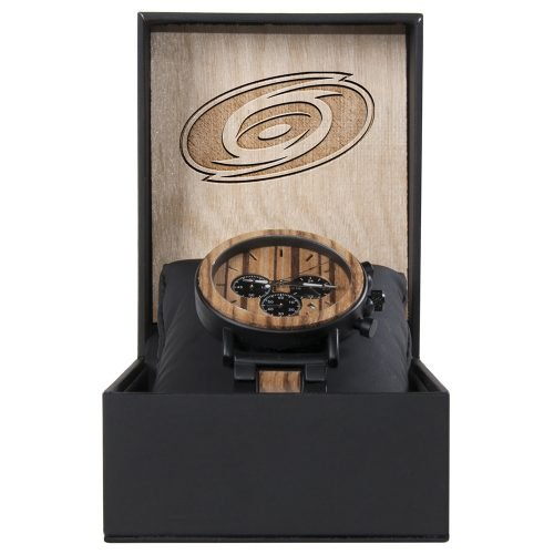 Carolina Hurricanes Metal and Wood Watch | Mens Titanium Chronograph Watch