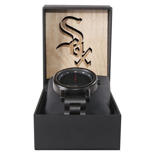 Chicago White Sox Walnut Wooden Watch | Mens Black Watch