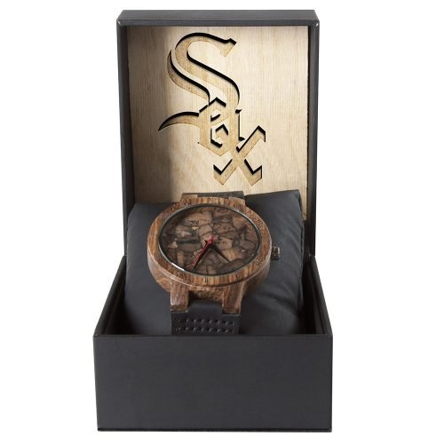 Chicago White Sox Mahogany Marble Wooden Watch | Mens Minimalist Wood Watch