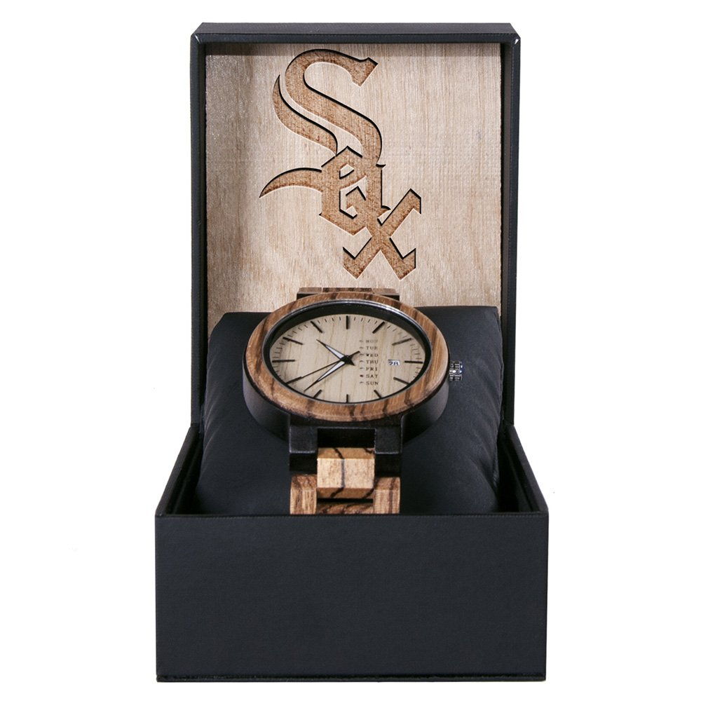 Chicago White Sox Maple Wooden Watch | Wood Watch Gold Sonnet Series
