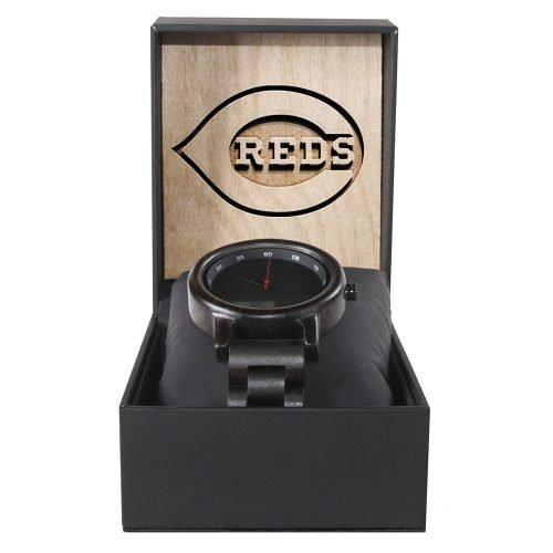 Cincinnati Reds Walnut Wooden Watch | Mens Black Watch