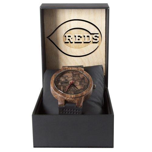 Cincinnati Reds Mahogany Marble Wooden Watch | Mens Minimalist Wood Watch