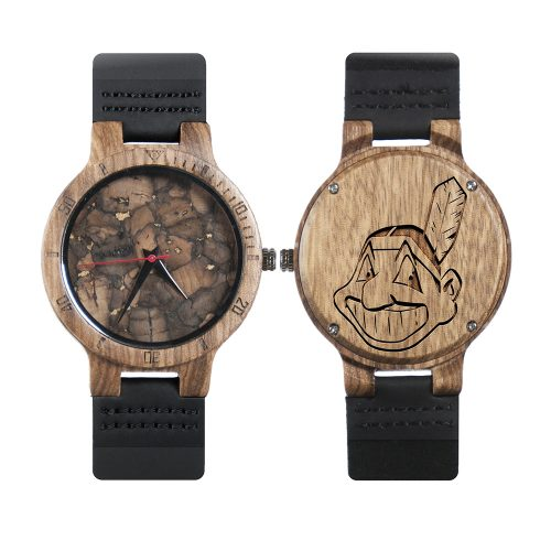 Cleveland Indians Mahogany Marble Wooden Watch | Mens Minimalist Wood Watch