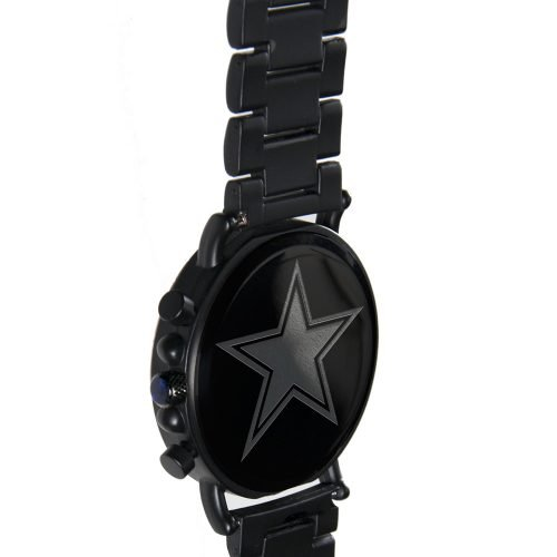 Dallas Cowboys Metal and Wood Watch | Mens Titanium Chronograph Watch