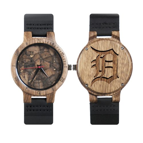 Detroit Tigers Mahogany Marble Wooden Watch | Mens Minimalist Wood Watch