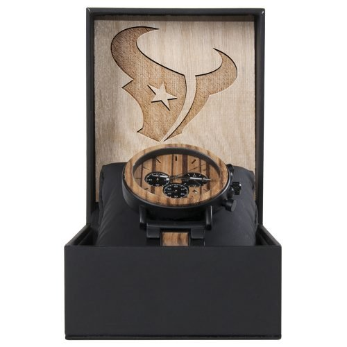 Houston Texans Metal and Wood Watch | Mens Titanium Chronograph Watch