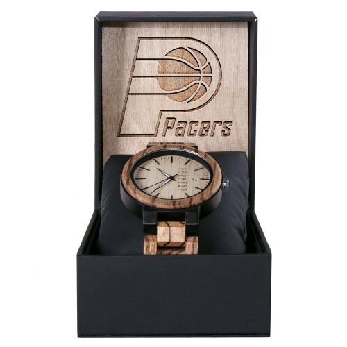 Indiana Pacers Maple Wooden Watch | Wood Watch Gold Sonnet Series
