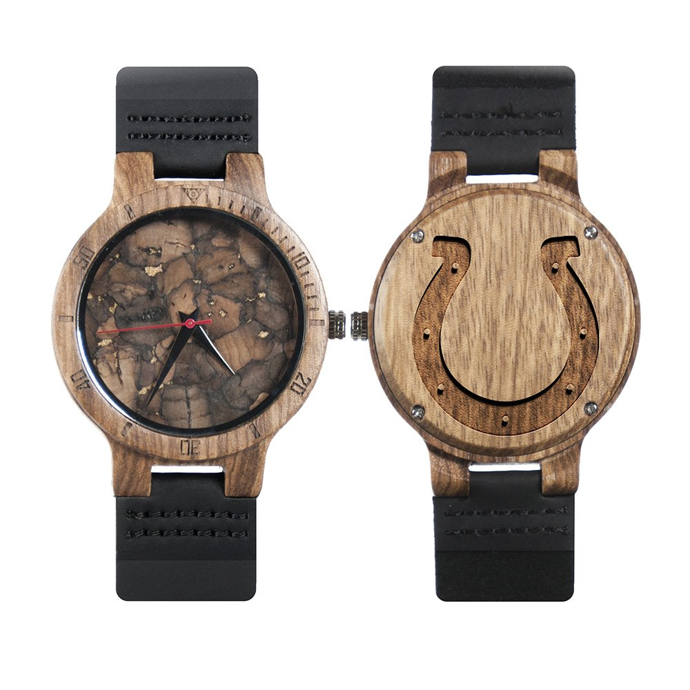 1eaba451 NFL Indianapolis Colts Mahogany Marble Wooden Watches - Mens Minimalist  Wood Watches