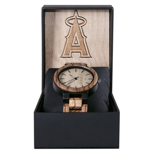 Los Angeles Angels Maple Wooden Watch | Wood Watch Gold Sonnet Series