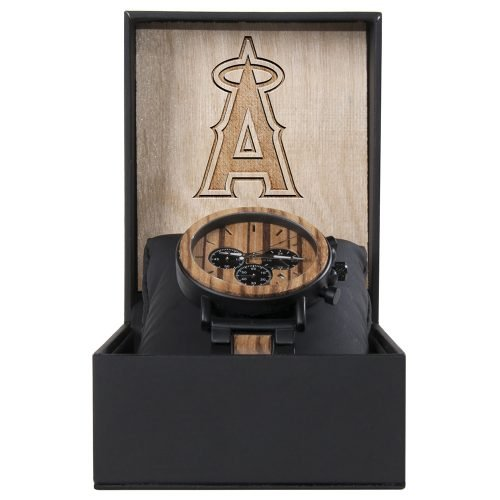Los Angeles Angels Metal and Wood Watch | Mens Titanium Chronograph Watch