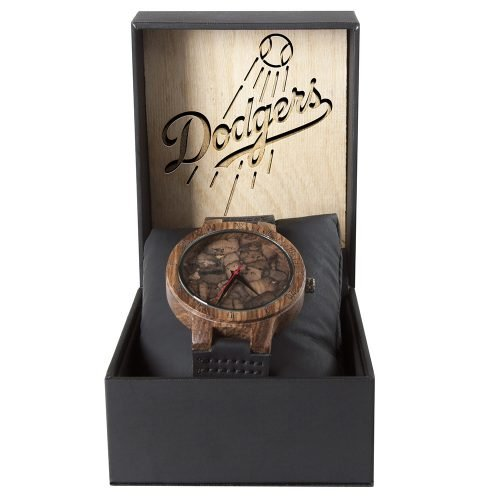 Los Angeles Dodgers Mahogany Marble Wooden Watch | Mens Minimalist Wood Watch