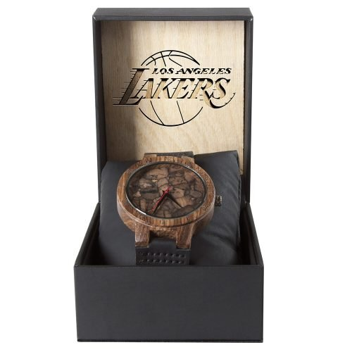 Los Angeles Lakers Mahogany Marble Wooden Watch | Mens Minimalist Wood Watch