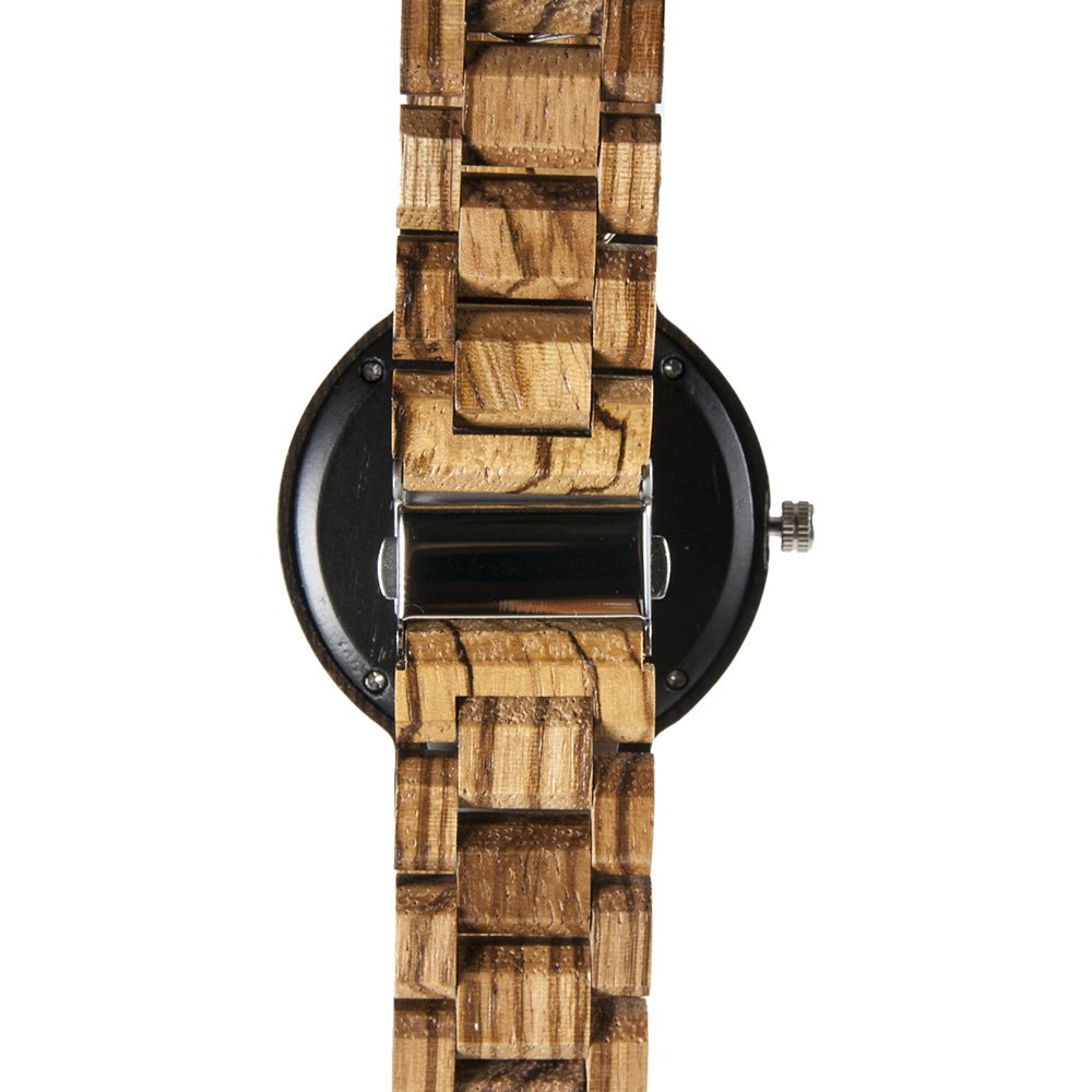 Buffalo Bills Maple Wooden Watch | Wood Watch Gold Sonnet Series