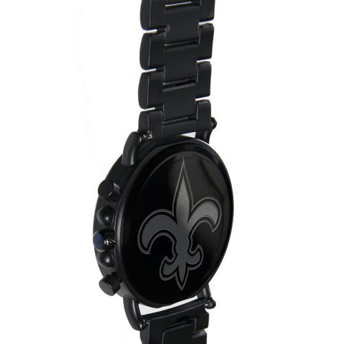 New Orleans Saints Metal and Wood Watch | Mens Titanium Chronograph Watch