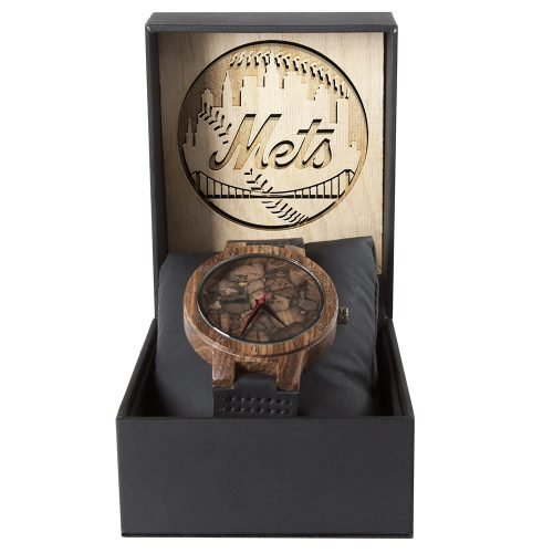 New York Mets Mahogany Marble Wooden Watch | Mens Minimalist Wood Watch