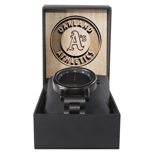 New York Yankees Classic Walnut Wooden Watch | Mens Black Watch