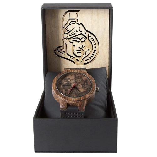 Ottawa Senators Mahogany Marble Wooden Watch | Mens Minimalist Wood Watch