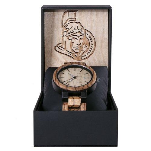Ottawa Senators Maple Wooden Watch | Wood Watch Gold Sonnet Series