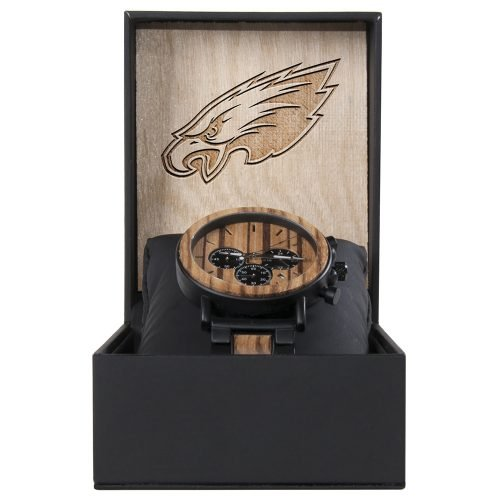 Philadelphia Eagles Metal and Wood Watch | Mens Titanium Chronograph Watch