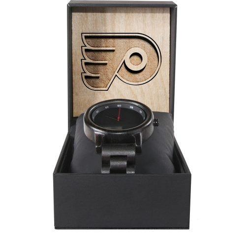 Philadelphia Flyers Walnut Wooden Watch | Mens Black Watch