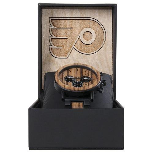 Philadelphia Flyers Metal and Wood Watch | Mens Titanium Chronograph Watch