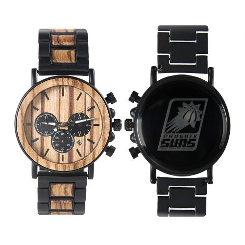 Phoenix Suns Metal and Wood Watch | Mens Titanium Chronograph Watch