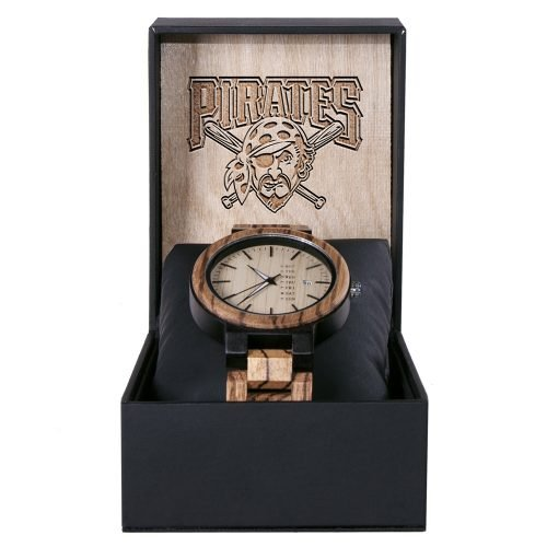 Pittsburgh Pirates Maple Wooden Watch | Wood Watch Gold Sonnet Series