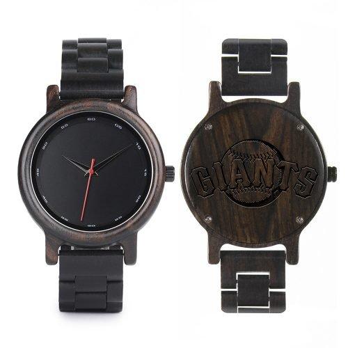 San Francisco Giants Walnut Wooden Watch | Mens Black Watch
