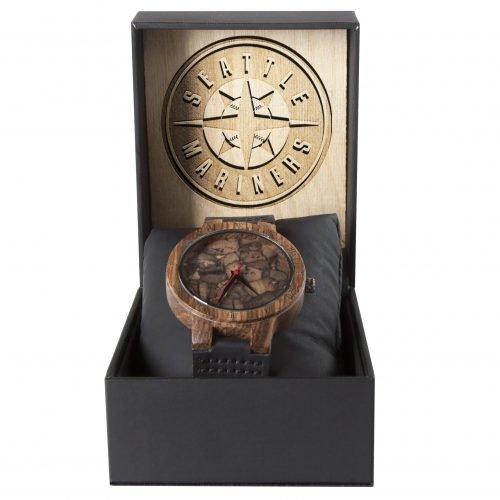 Seattle Mariners Mahogany Marble Wooden Watch | Mens Minimalist Wood Watch