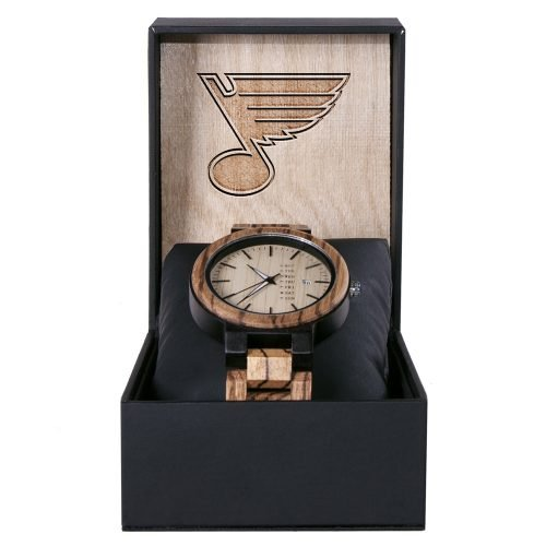 St Louis Blues Maple Wooden Watch | Wood Watch Gold Sonnet Series