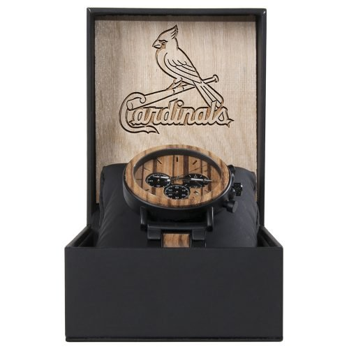 Best St Louis Cardinals Metal and Wood Watch | Mens Titanium Chronograph Watch