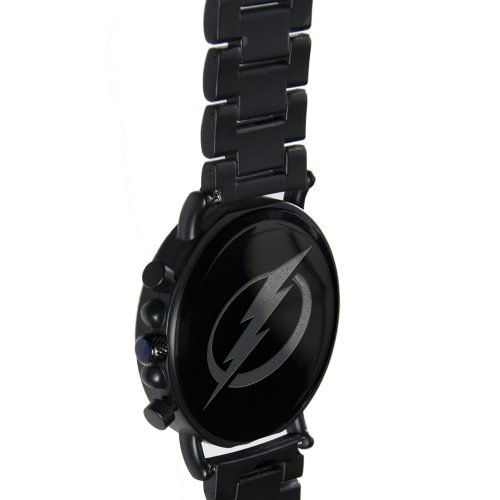 Tampa Bay Lightning Metal and Wood Watch | Mens Titanium Chronograph Watch