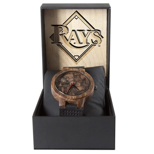 Tampa Bay Rays Mahogany Marble Wooden Watch | Mens Minimalist Wood Watch