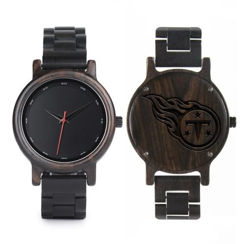 Tennessee Titans Walnut Wooden Watch | Mens Black Watch