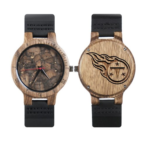 Tennessee Titans Mahogany Marble Wooden Watch | Mens Minimalist Wood Watch