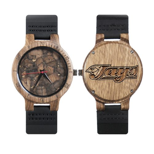 Toronto Blue Jays Mahogany Marble Wooden Watch | Mens Minimalist Wood Watch