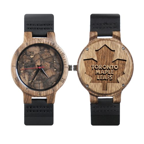 Toronto Maple Leafs Mahogany Marble Wooden Watch | Mens Minimalist Wood Watch