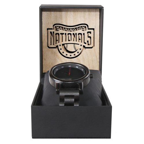 Washington Nationals Classic Walnut Wooden Watch   Mens Black Watch