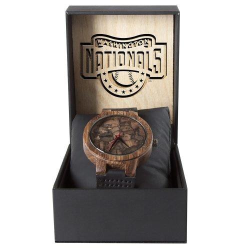 Washington Nationals Mahogany Marble Wooden Watch   Mens Minimalist Wood Watch