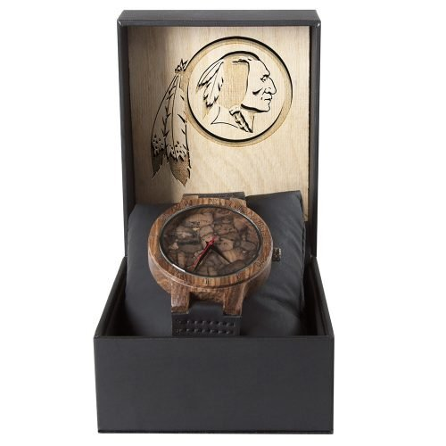 Washington Redskins Mahogany Marble Wooden Watch | Mens Minimalist Wood Watch