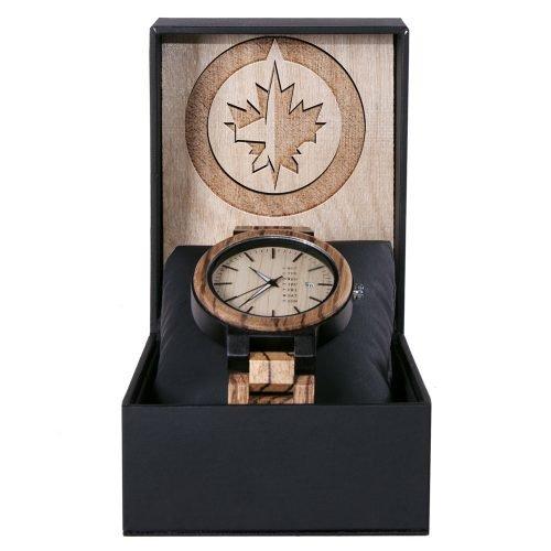 Winnipeg Jets Maple Wooden Watch | Wood Watch Gold Sonnet Series