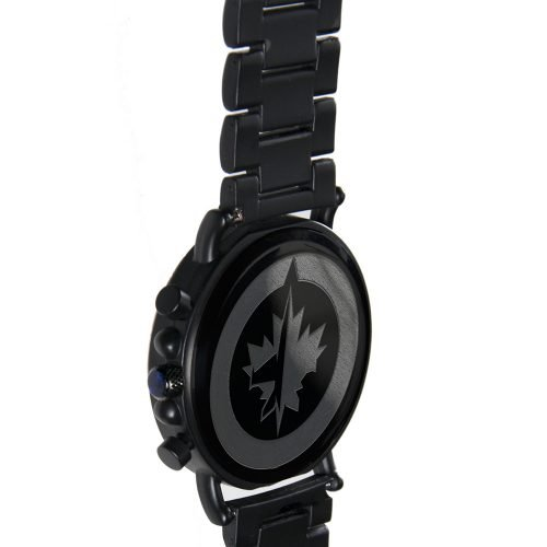 Winnipeg Jets Metal and Wood Watch | Mens Titanium Chronograph Watch
