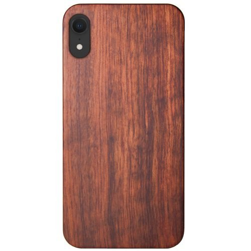 Wood iPhone XR Case - Mahogany Wooden iPhone XR Cover