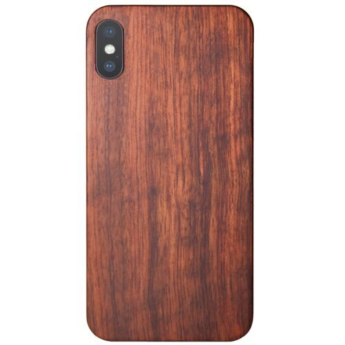 Wood iPhone XS Case - Mahogany Wooden iPhone XS Cover