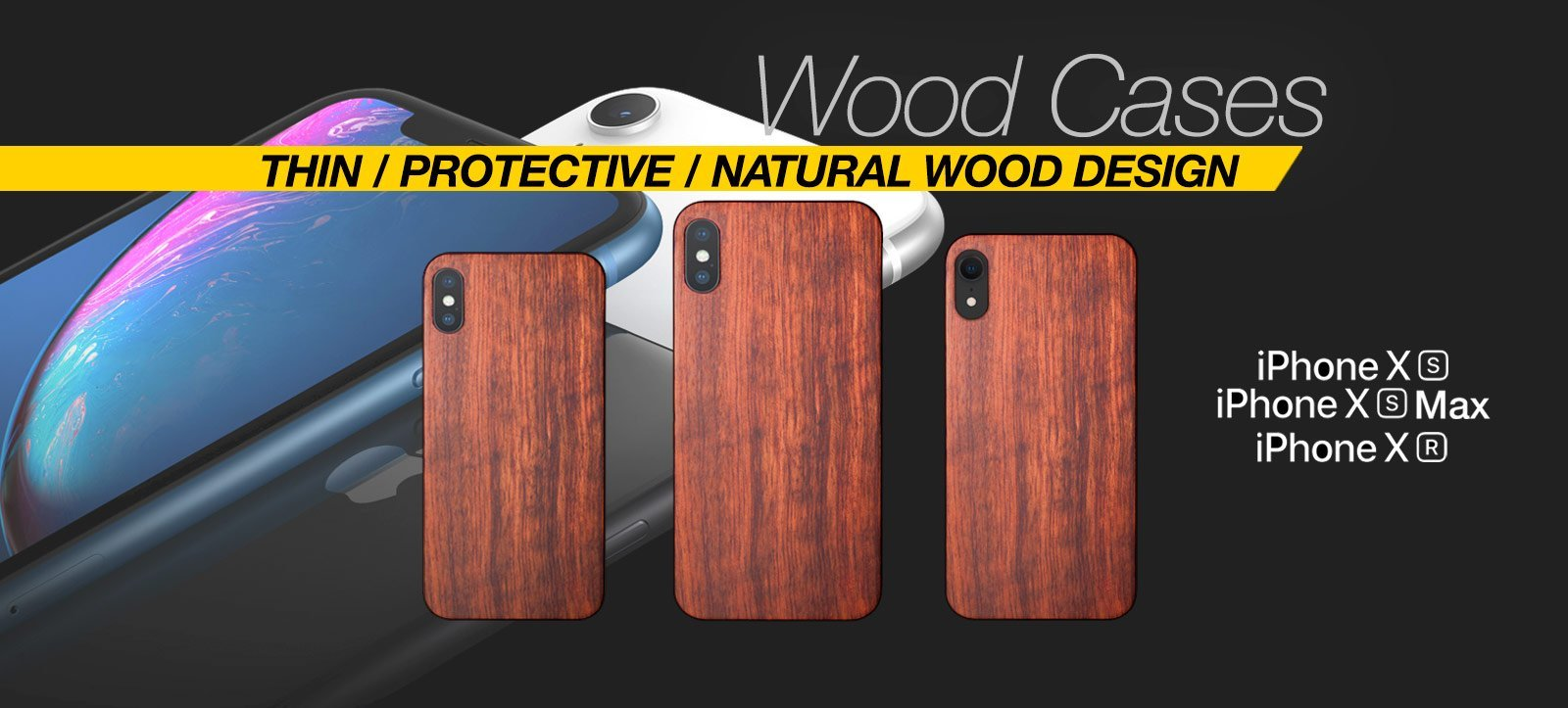 Best Wood iPhone XS Case Eco Friendly Wood iPhone XR Case Real Wooden iPhone XS Max Bamboo Mahogany Cover